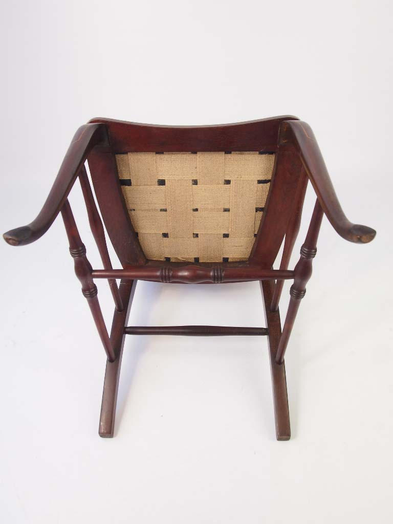 Small Edwardian Mahogany Inlaid Dressing Table Chair