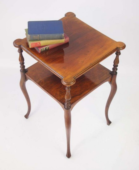 Antique Rosewood Two Tier Lamp Table
