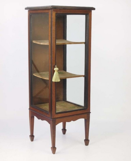 Slim Edwardian Bijouterie Display Cabinet