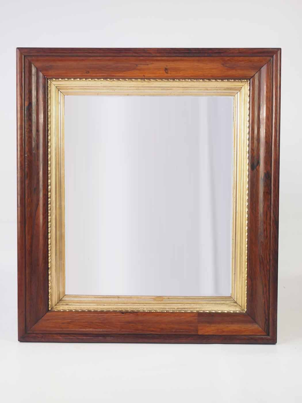 Large Antique Victorian Rosewood Framed Mirror