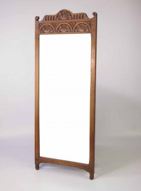 Vintage Rectangular Oak Wall Mirror