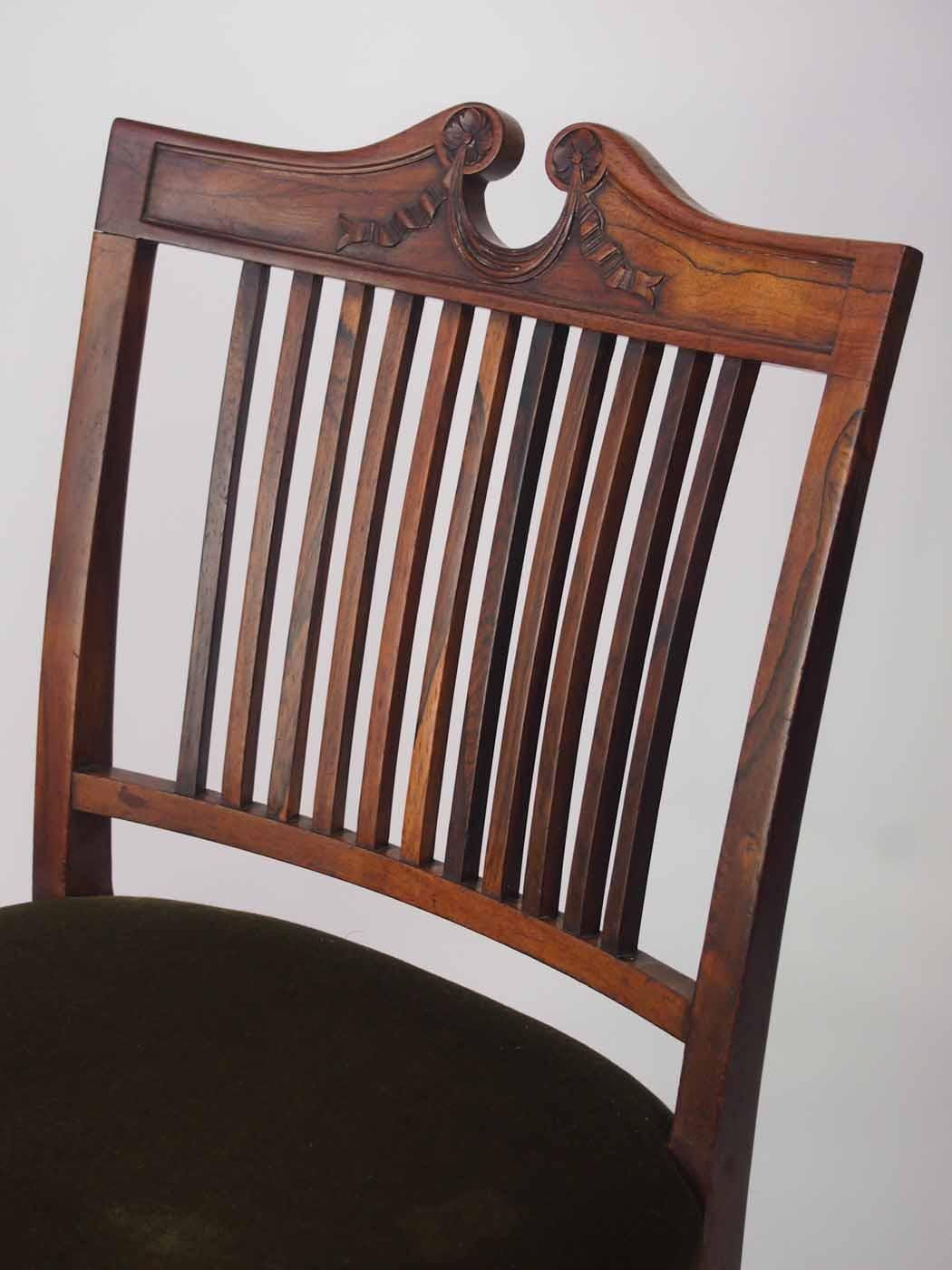 Antique Marsh Jones & Cribb Rosewood Bedroom Chair