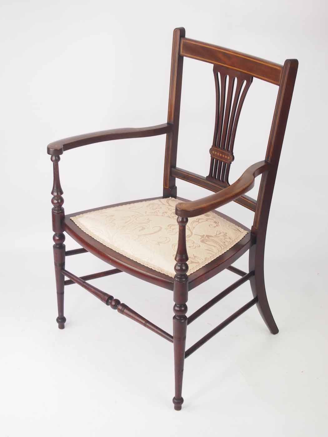 small bedroom chairs uk small edwardian open armchair bedroom chair 17107