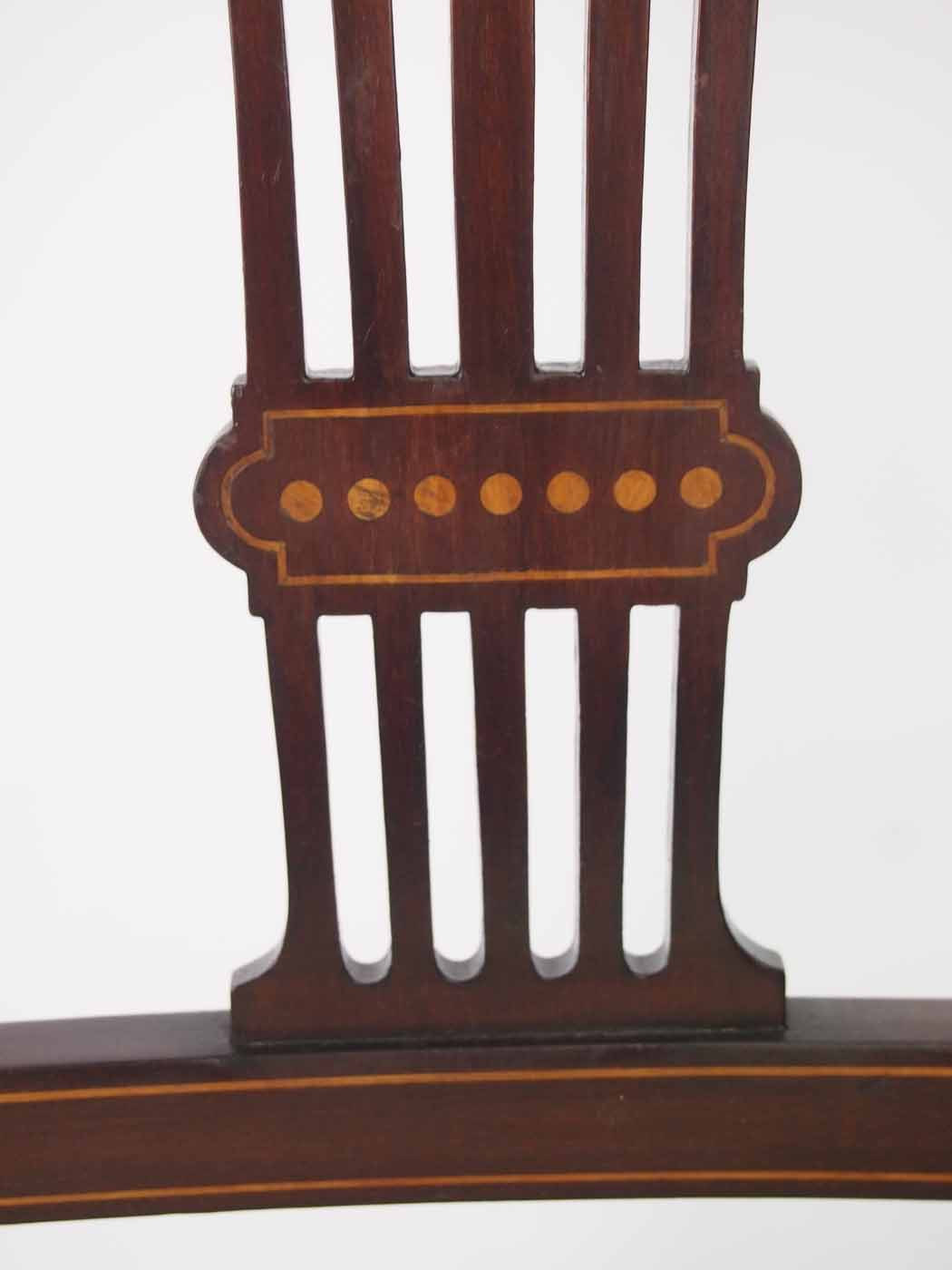 Small Edwardian Open Armchair Bedroom Chair