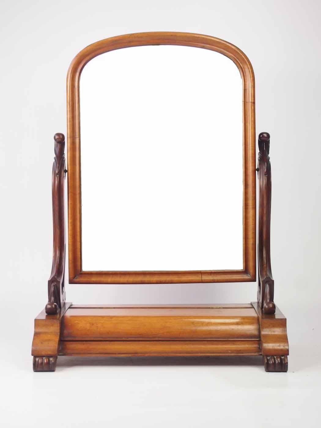 Victorian mahogany dressing table mirror toilet mirror for Dressing table mirror