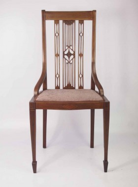 Edwardian Inlaid Mahogany Desk Chair