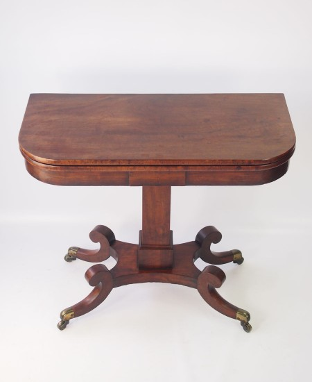 Regency Mahogany Card Table or Hall Table