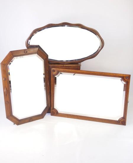 Set 3 Oak Mirrors Circa 1920s
