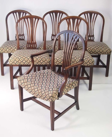 Set 6 Georgian Mahogany Dining Chairs