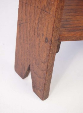 Arts and Crafts Oak Lamp Table