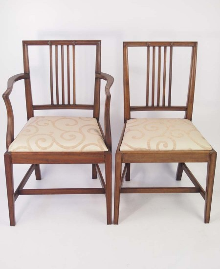 Pair Edwardian Mahogany Chairs