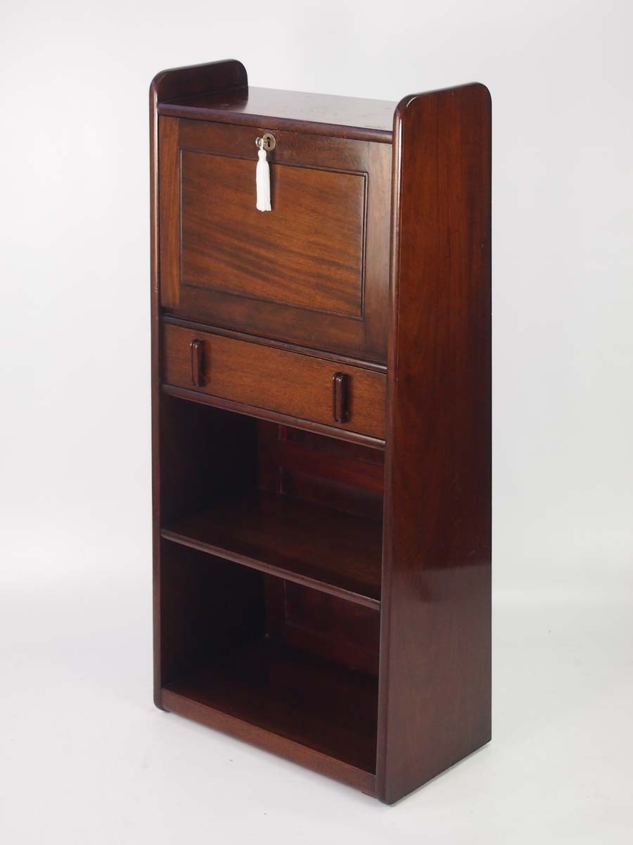 slim art deco mahogany bureau. Black Bedroom Furniture Sets. Home Design Ideas