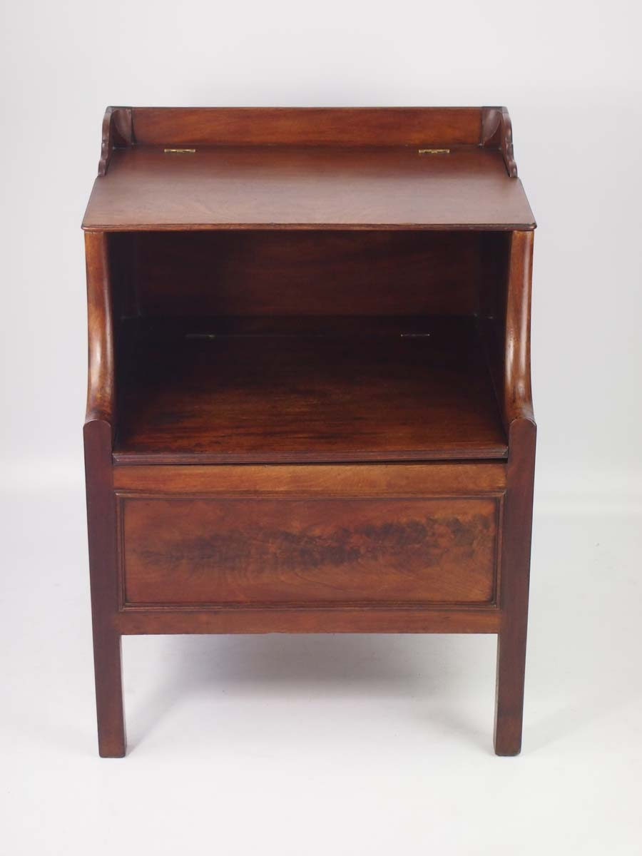 Antique Georgian Mahogany Bedside Cabinet Commode
