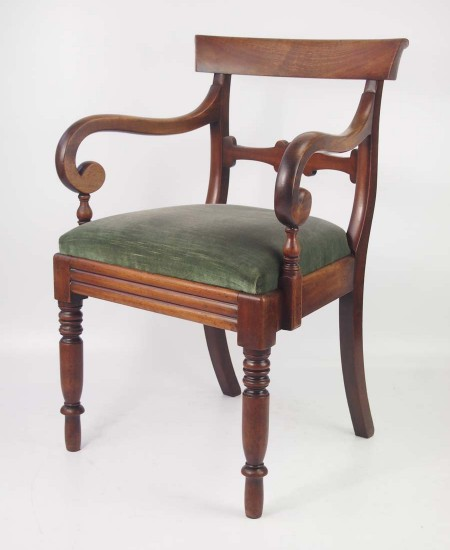 Antique Victiorian Mahogany Desk Chair