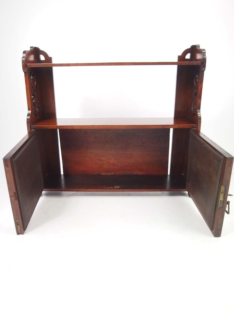 victorian walnut hanging cabinet bathroom cabinet. Black Bedroom Furniture Sets. Home Design Ideas