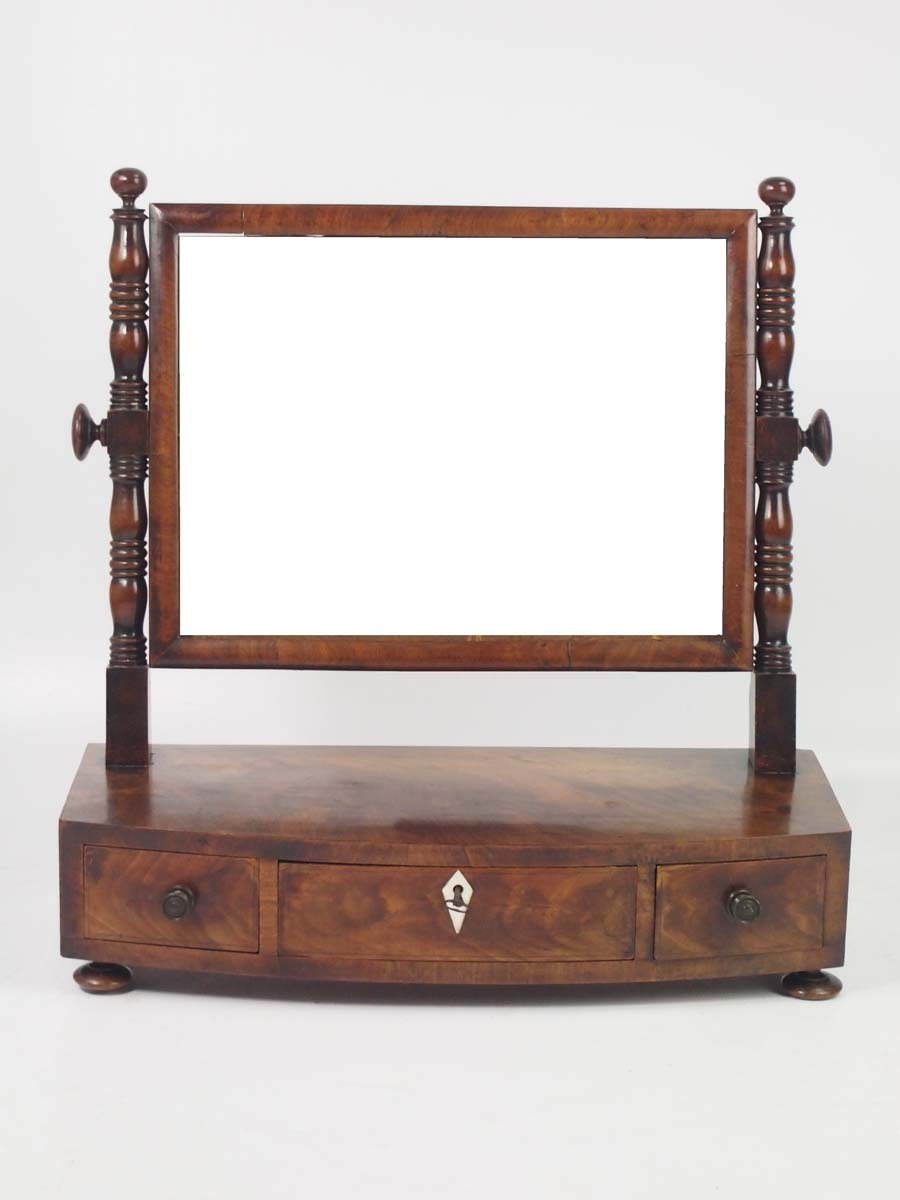 Antique regency mahogany toilet mirror dressing table for Furniture direct