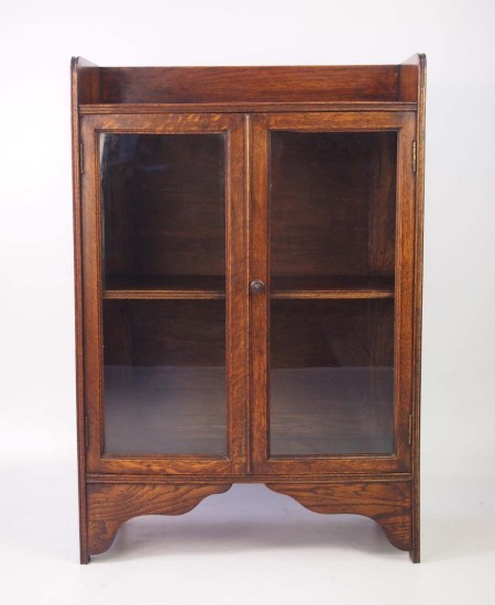 Small Edwardian Oak Bookcase