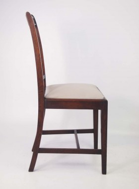 Set 4 Vintage Oak Chairs