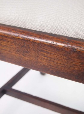 Set 4 Vintage Oak Chairs
