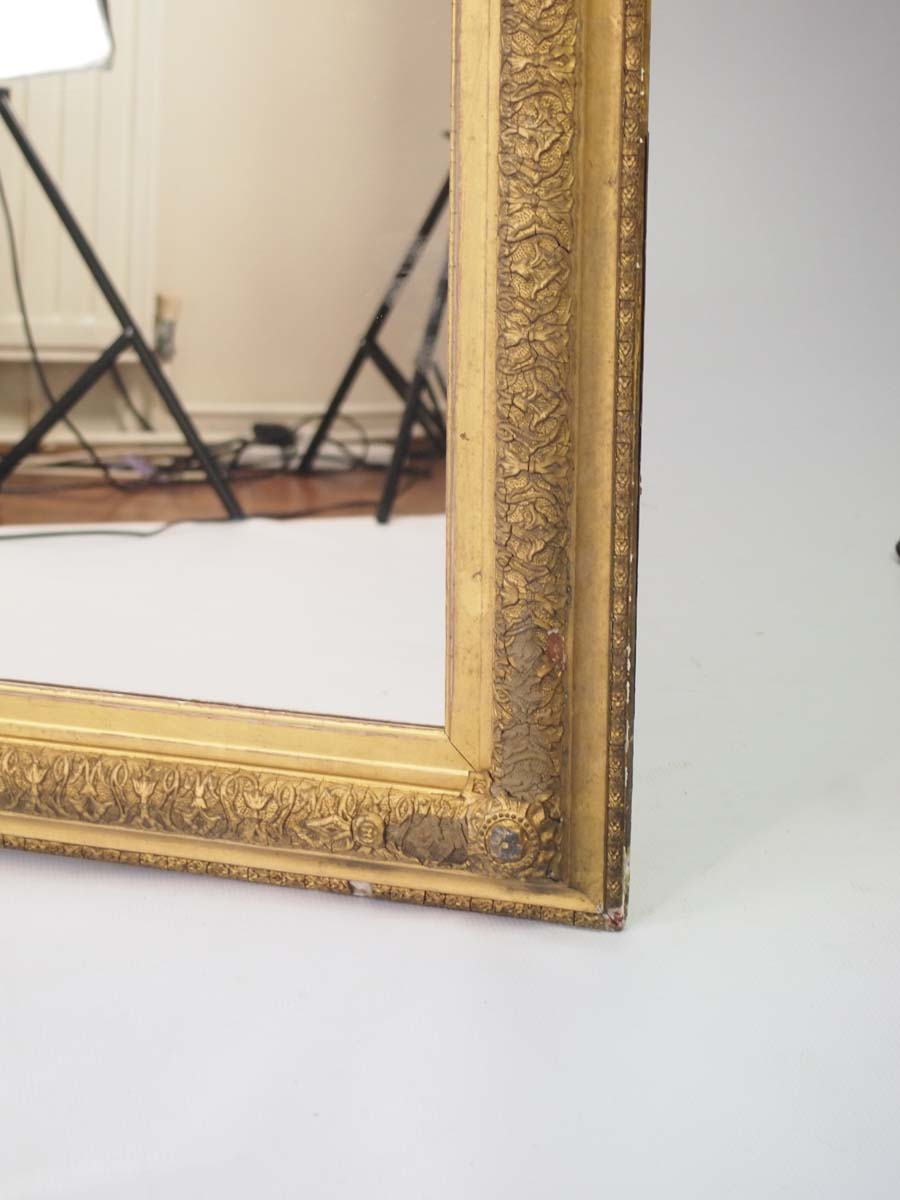 Large antique victorian gilt framed mirror for Victorian mirror