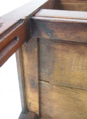 18th Century Dutch Tambour Front Oak Cabinet