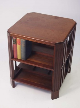 Art Deco Mahogany Book Table