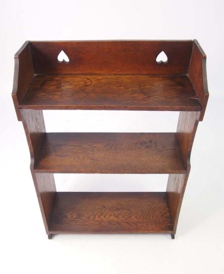 Antique Arts & Crafts Oak Hanging Shelves