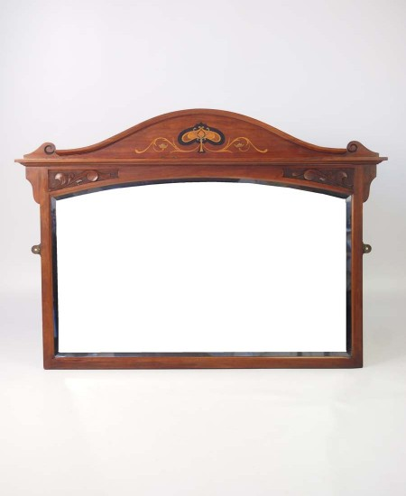 Antique Arts & Crafts Overmantle Mirror