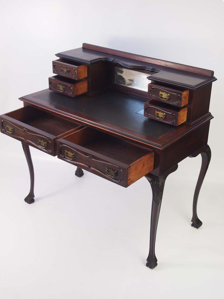 Mahogany Writing Desk ~ Antique victorian mahogany writing table desk