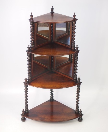 Antique Rosewood Corner Whatnot - Antique Rosewood Furniture For Sale - Archive -