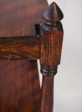 Antique Faux Rosewood Whatnot