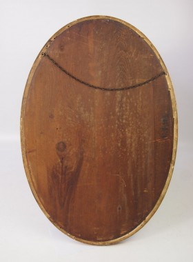 Edwardian Gilt Framed Oval Wall Mirror