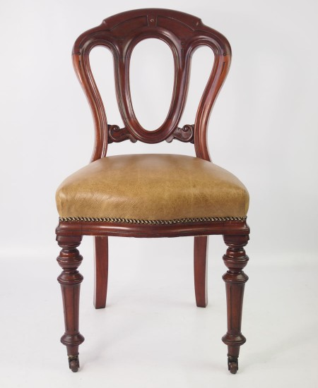 Victorian Mahogany and Leather Desk Chair