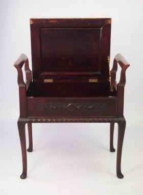Antique Edwardian Mahogany Piano Stool