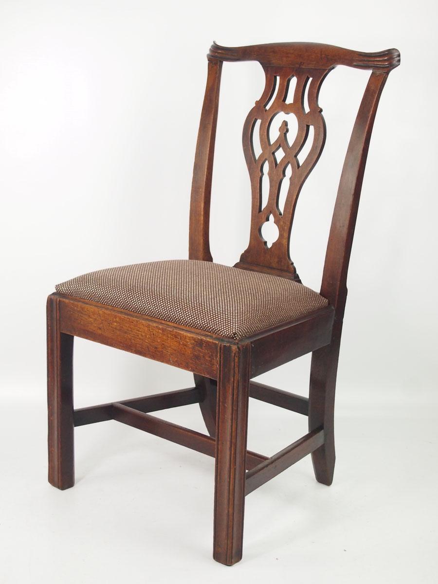 Antique Georgian Quot Chippendale Quot Mahogany Desk Chair