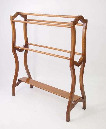 Antique Arts and Crafts Oak Towel Rail