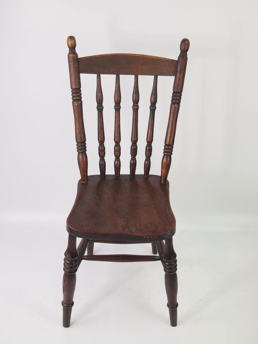 Pair Antique Victorian Kitchen Chairs