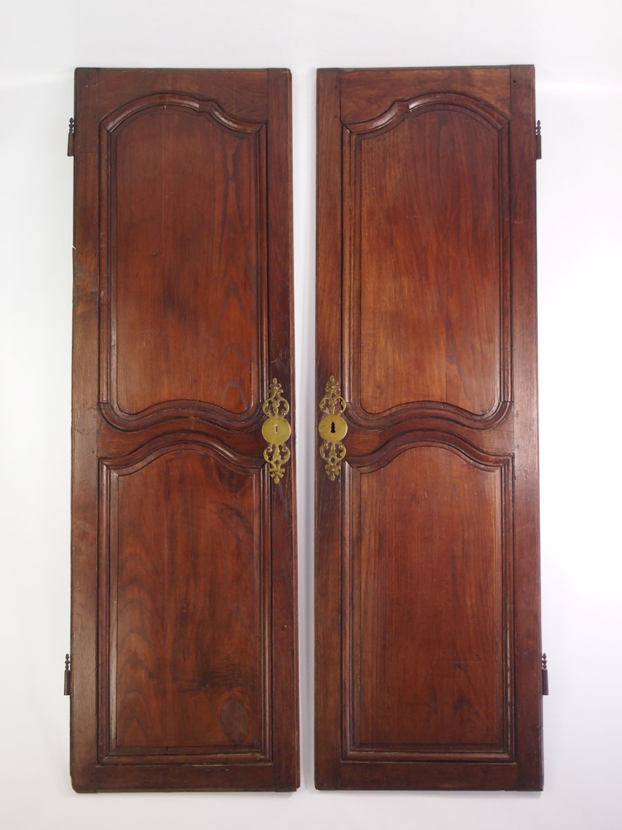 Large pair antique french oak cupboard doors for Buy french doors