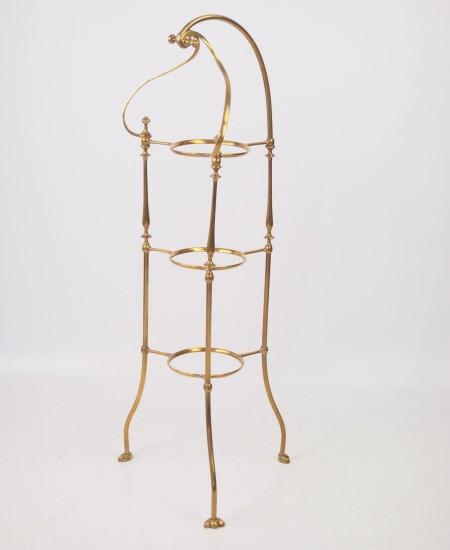 Antique Art Nouveau Brass Cake Stand