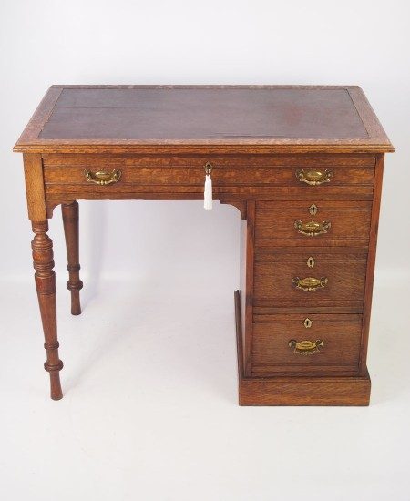 Small Antique Edwardian Oak Desk
