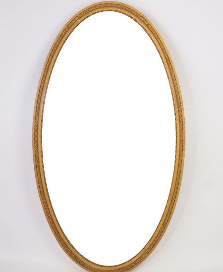 Large Edwardian Oval Gilt Mirror