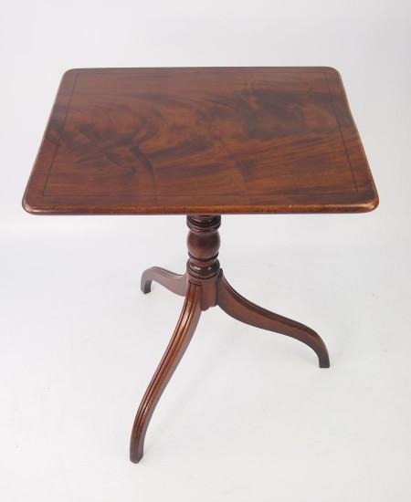 Antique Regency Mahogany Tilt Top Table