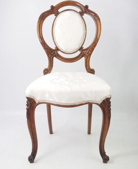 Victorian Walnut Balloon Back Chair